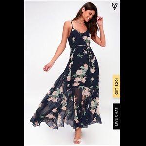 Lulu's navy blue floral dress